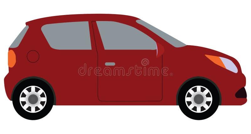 红色汽车 库存例证