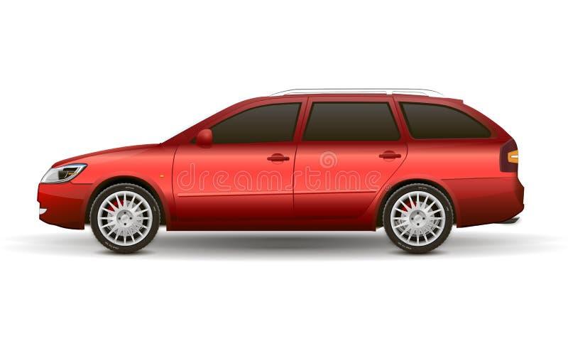红色汽车 向量例证