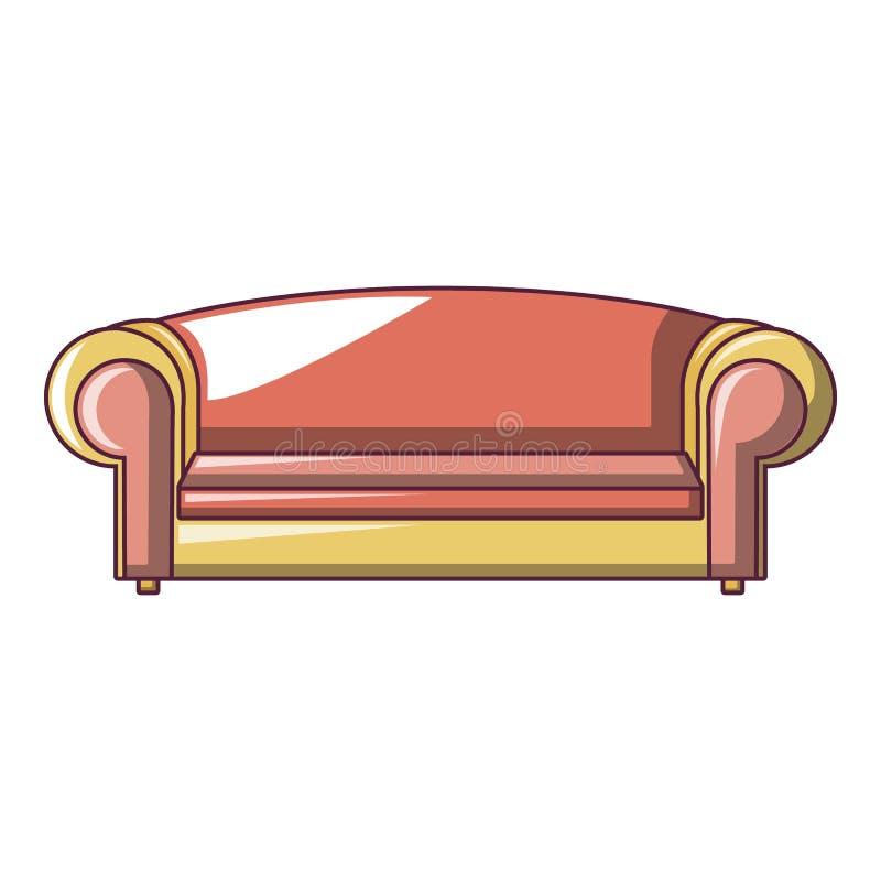 红色沙发象,动画片样式 向量例证