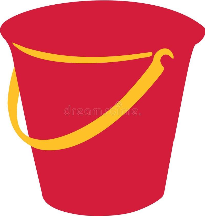 红色沙子桶 库存例证