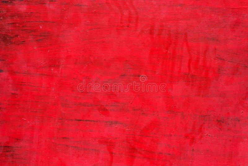 红色油漆污迹在金属、滴水和污点的 Backgrou 免版税库存图片