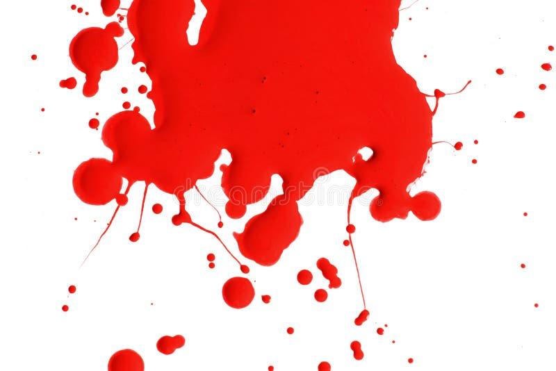 红色油漆飞溅  免版税库存照片