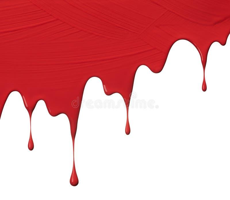 红色油漆滴水 免版税库存照片