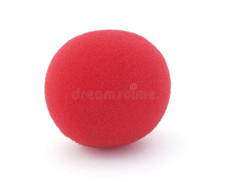 红色泡沫小丑鼻子 免版税图库摄影