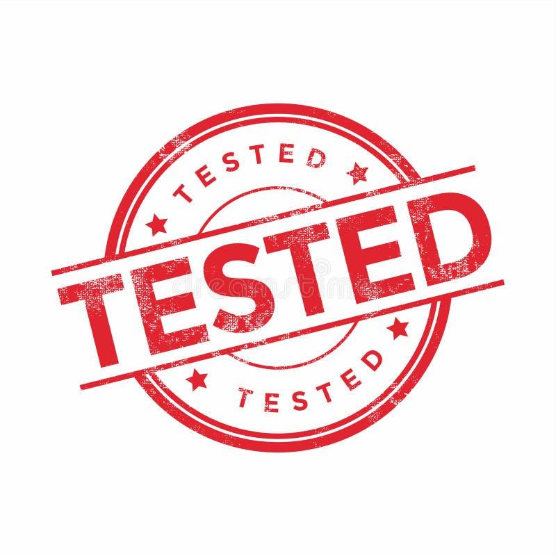 红色测试了在白色背景隔绝的不加考虑表赞同的人 皇族释放例证