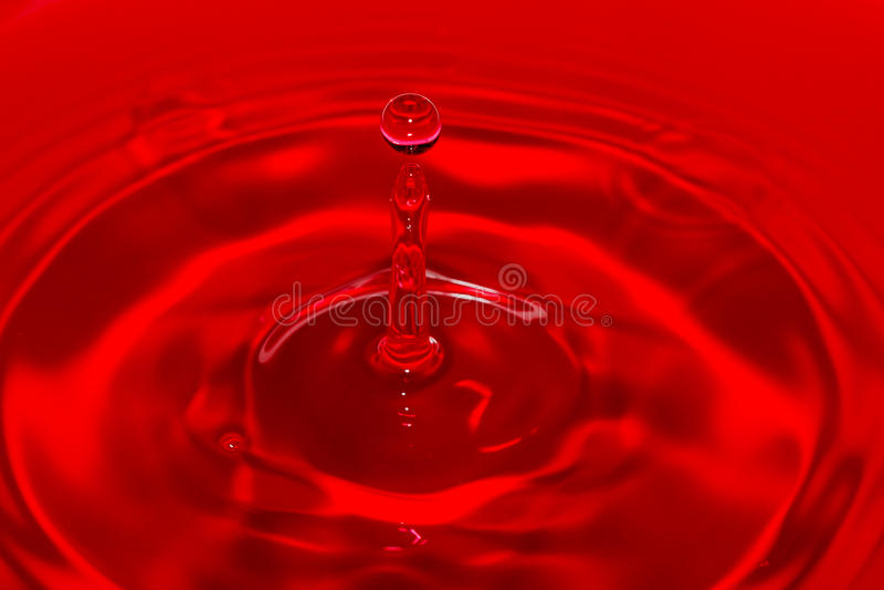绯红色浪潮 库存图片