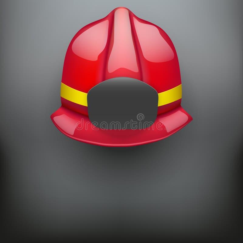 红色消防员盔甲传染媒介背景 向量例证