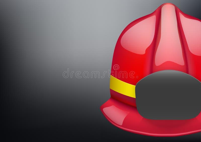红色消防员盔甲传染媒介背景 皇族释放例证