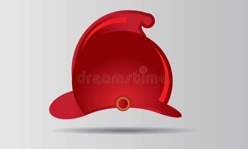 红色消防队员盔甲传染媒介例证徽章或象征 库存例证