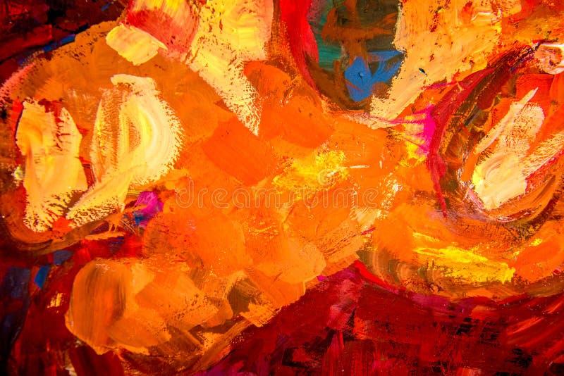红色温暖的绘画背景 免版税图库摄影
