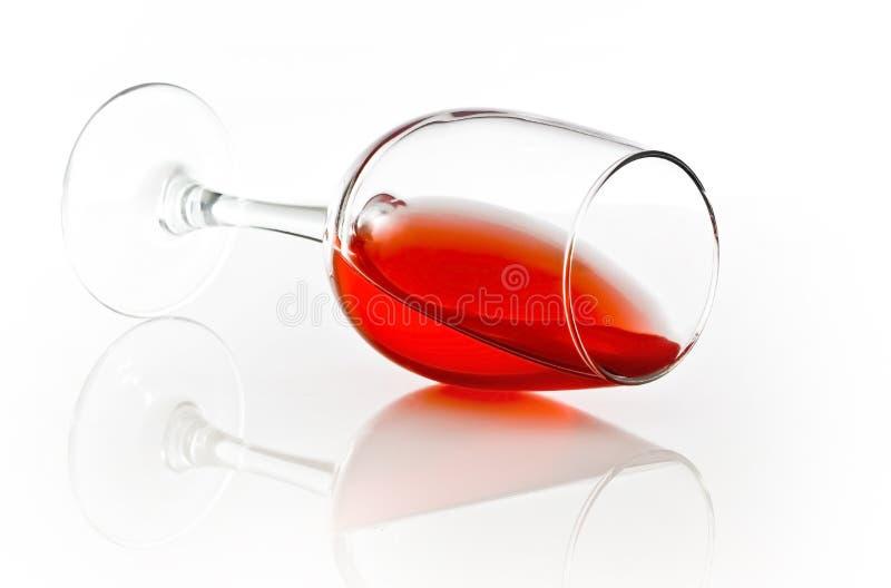 红色溢出酒 免版税库存图片