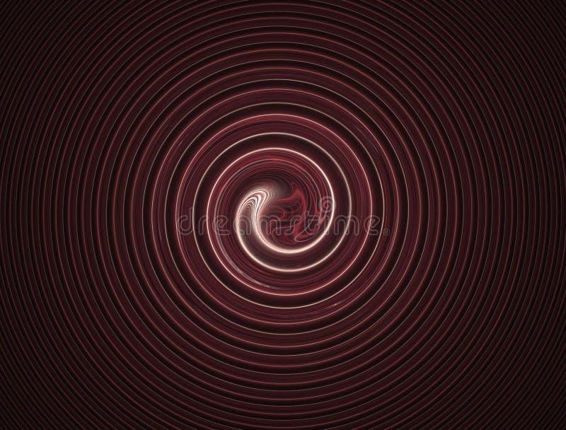 红色漩涡眩晕 向量例证