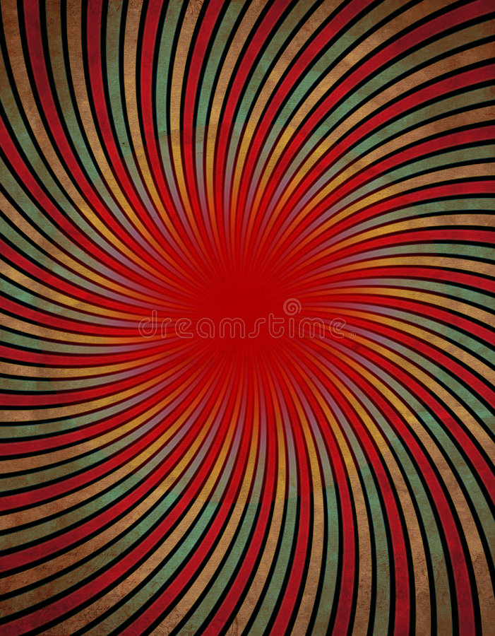 红色漩涡 向量例证