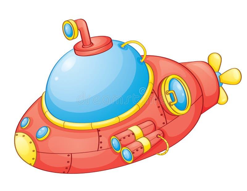红色潜水艇 皇族释放例证