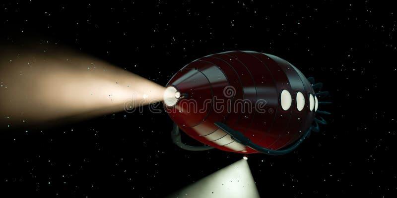 红色潜水艇 库存例证