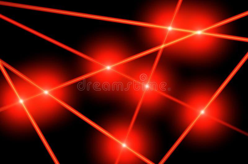 红色激光光芒 皇族释放例证