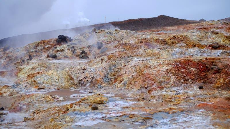 红色火星的土地 免版税库存照片