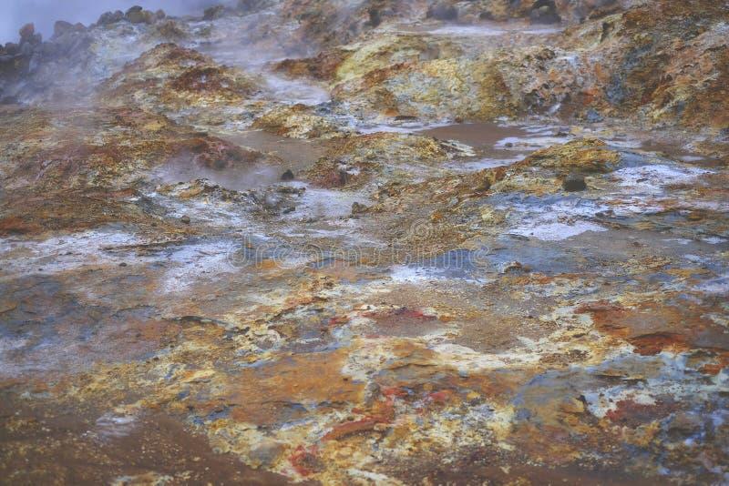 红色火星的土地 库存照片