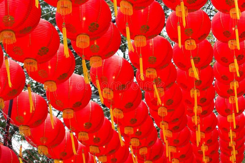 红色灯笼装饰 免版税库存照片