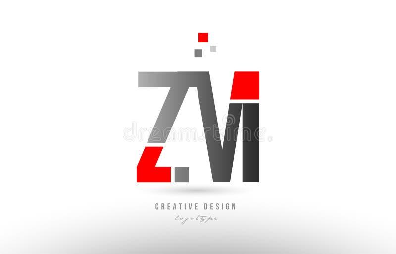 ?M??Mz?_红色灰色字母表信件zm z m商标组合象设计