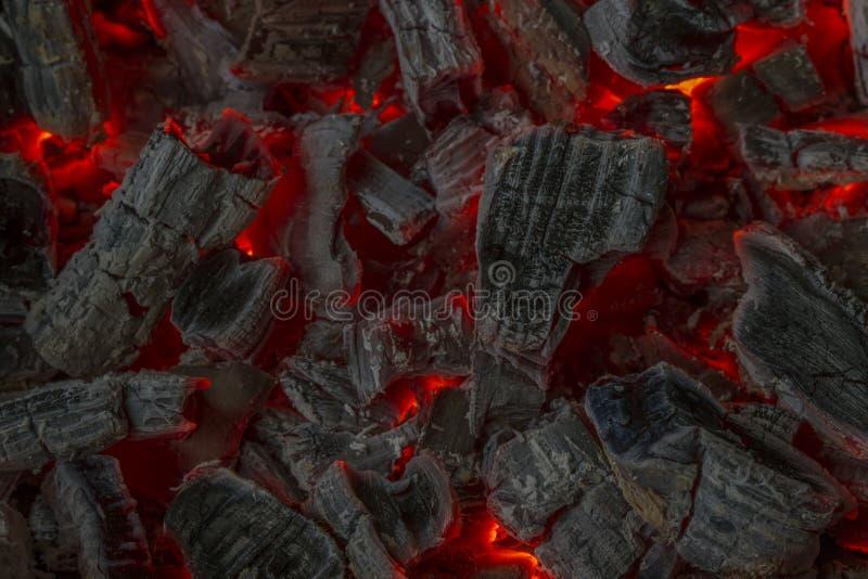 红色炭烬 免版税库存图片