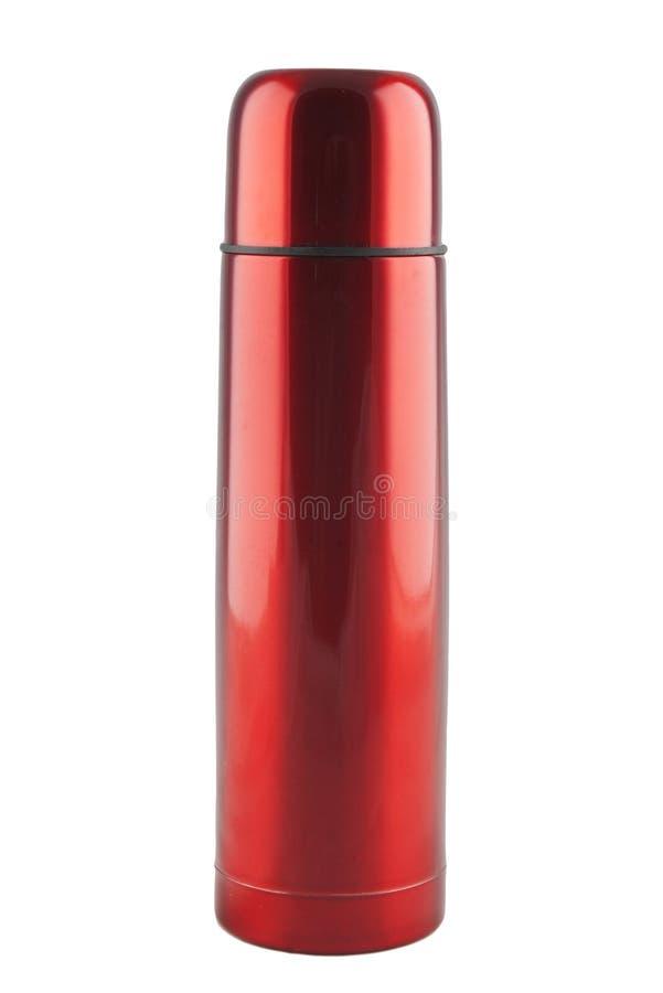 红色热水瓶 免版税图库摄影