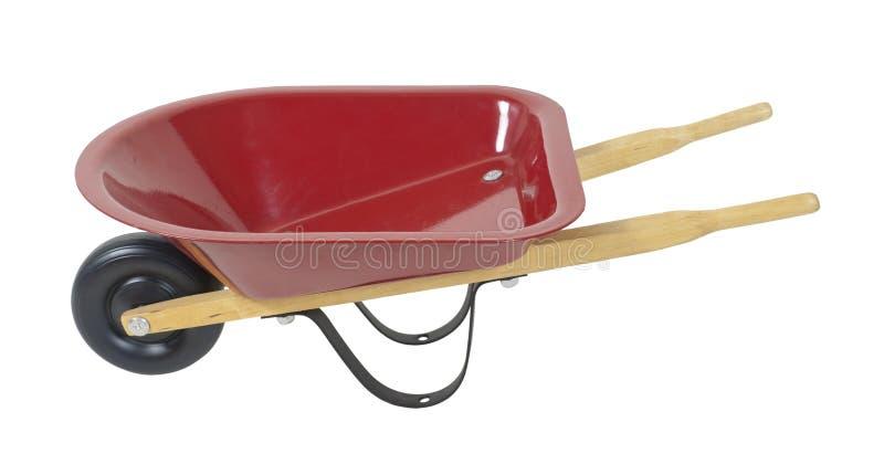 红色独轮车 免版税库存照片