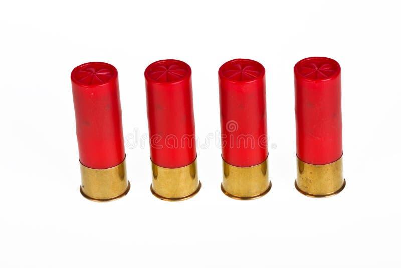 红色猎枪弹药 免版税库存照片