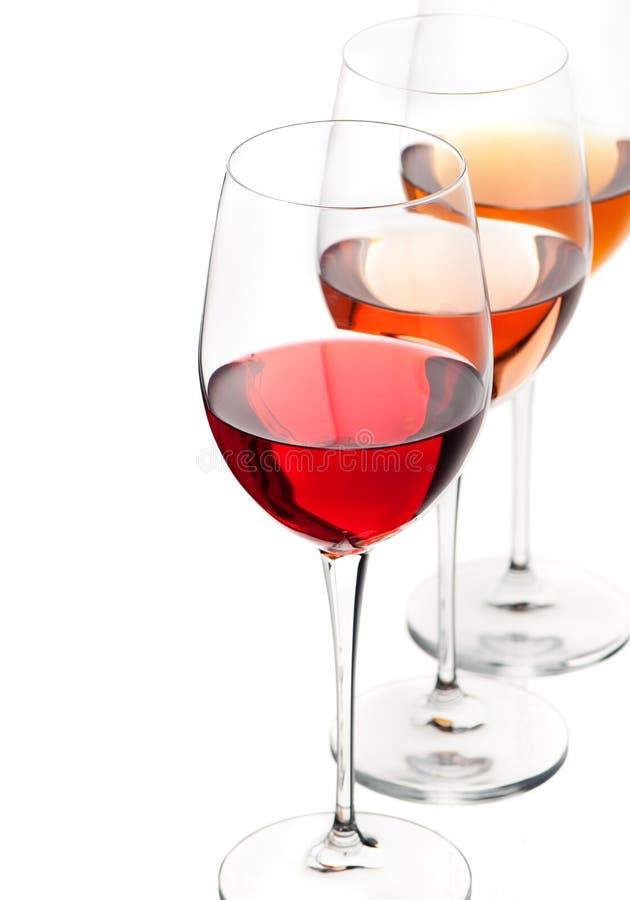 红色玫瑰白葡萄酒 免版税图库摄影