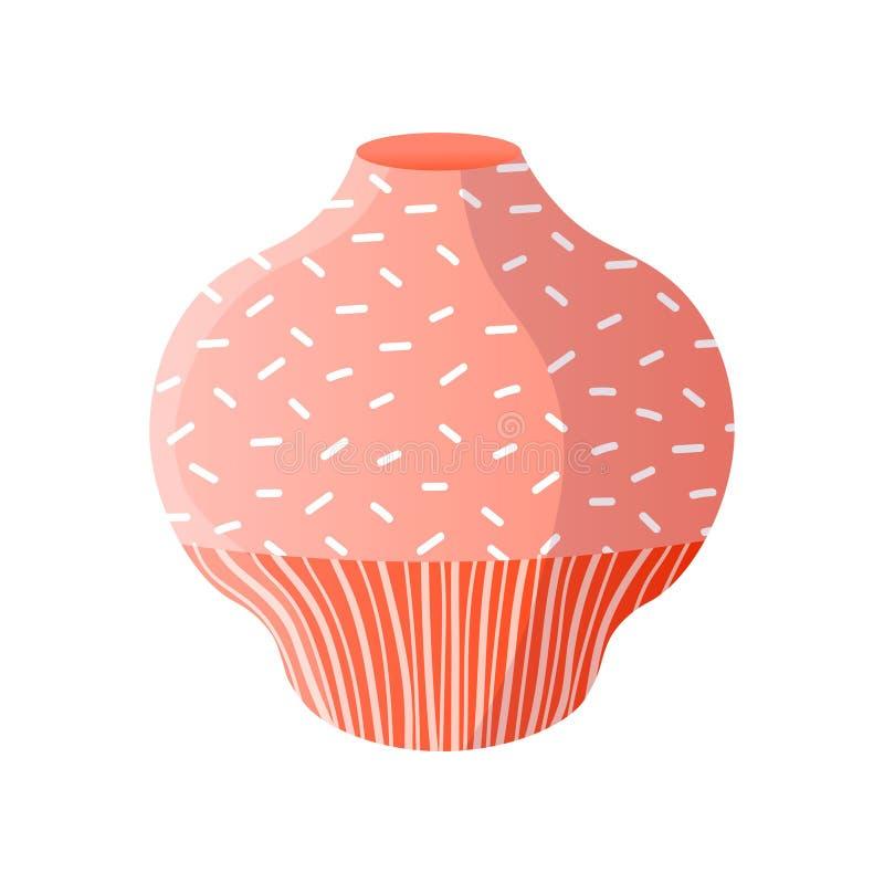 红色现代手拉的室新的花瓶 向量例证
