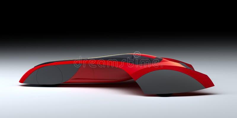 红色现代概念汽车 库存例证