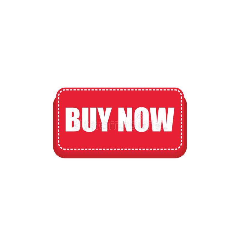 红色现在买网商店设计的按钮 红色现在买按钮传染媒介eps10 向量例证