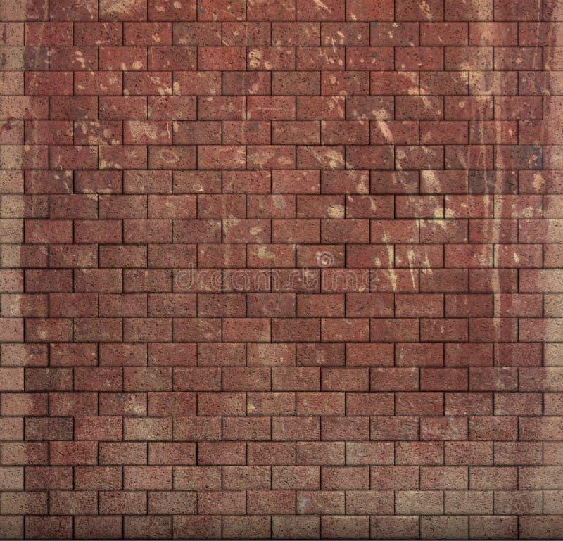 红色瓦片马赛克墙壁地板难看的东西石头3d回报 库存例证