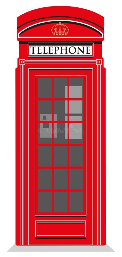 红色电话亭 库存例证