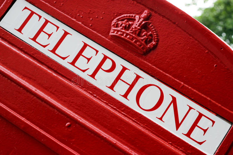 红色电话配件箱 库存照片