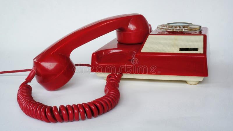 红色电话 免版税库存照片