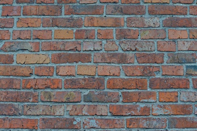 红色白色墙壁背景 老脏的砖墙水平的纹理 Brickwall背景 斯通沃尔墙纸 有Pe的葡萄酒墙壁 免版税库存照片
