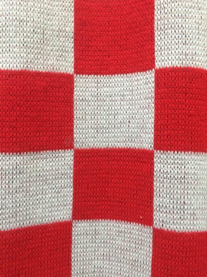 红色白色mafla 免版税库存图片