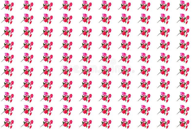 红色的人造花 免版税图库摄影