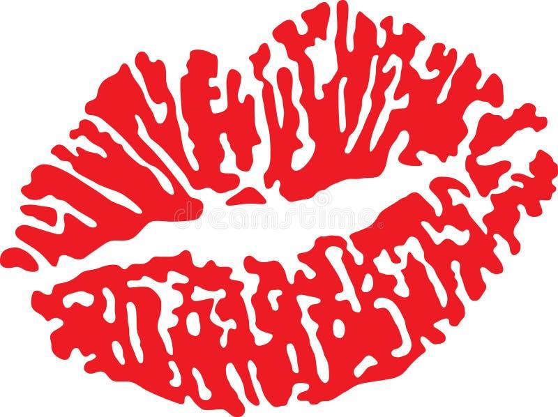红色的嘴唇 皇族释放例证