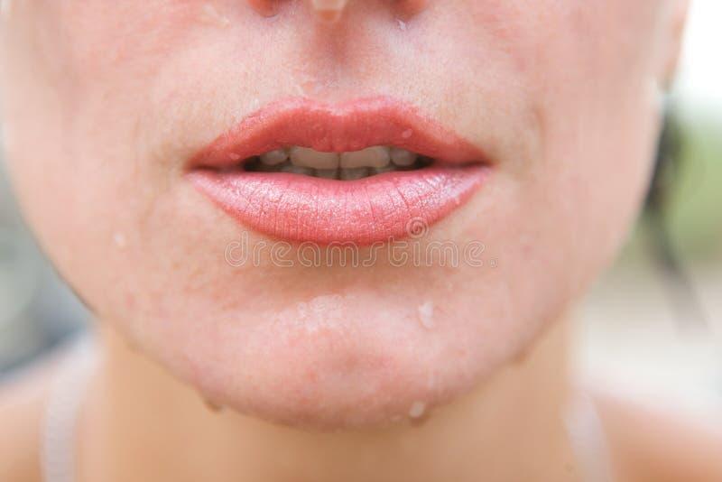红色的嘴唇 免版税图库摄影