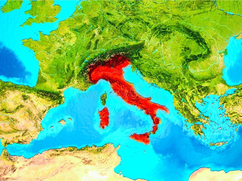 插画 包括有 意大利语, 空间, 视图, 国家(地区), 轨道, 映射图片