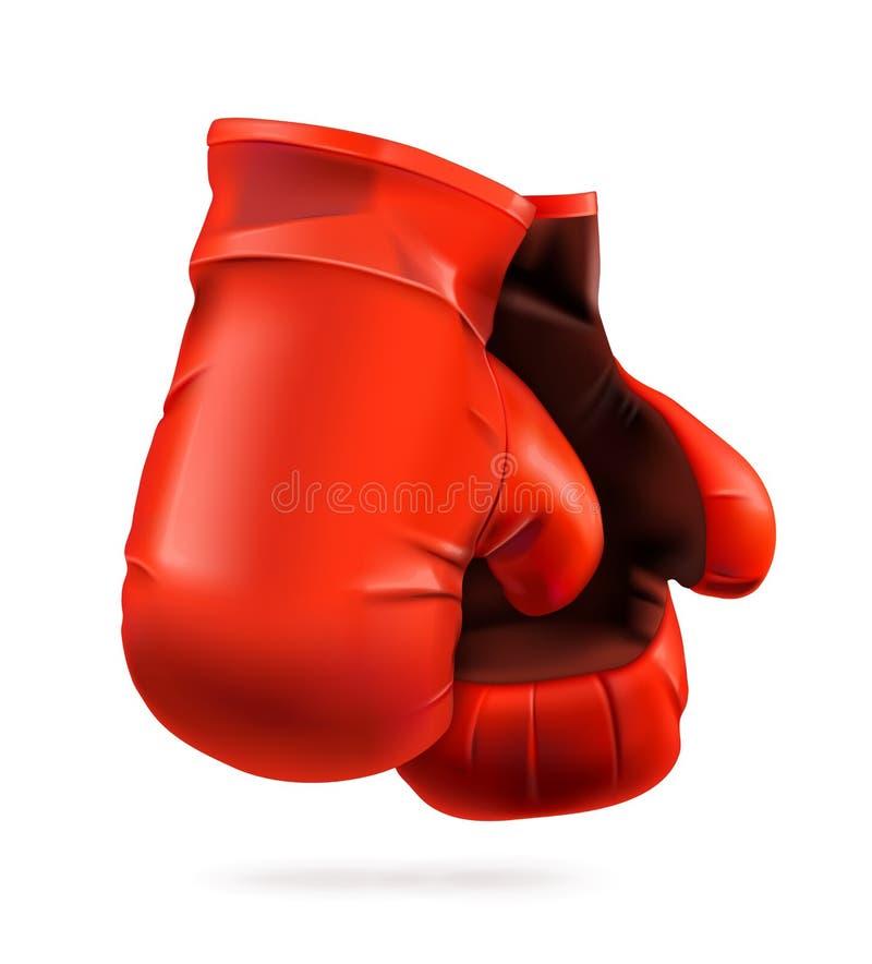 红色的拳击手套 皇族释放例证
