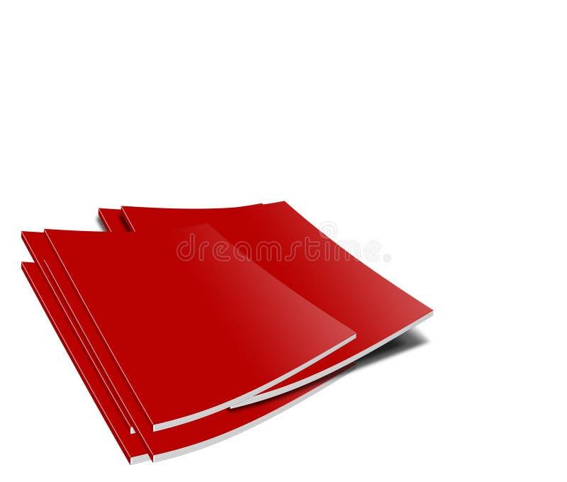 红色的杂志 向量例证