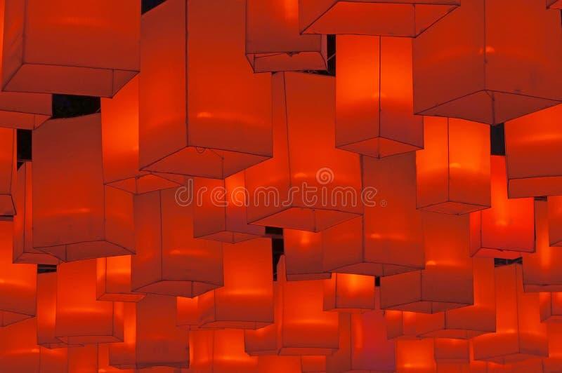 红色的灯笼 库存照片