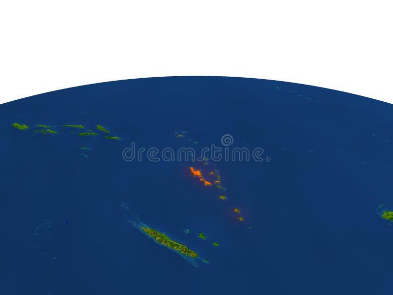 红色的瓦努阿图从轨道 皇族释放例证