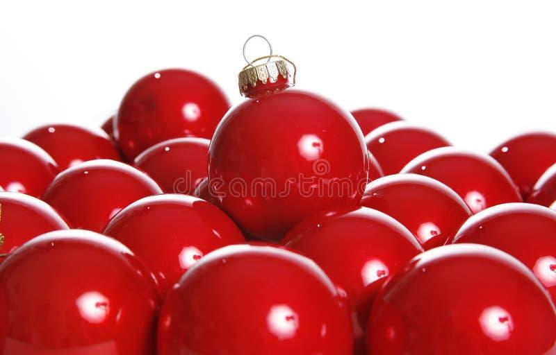红色的电灯泡 免版税库存图片