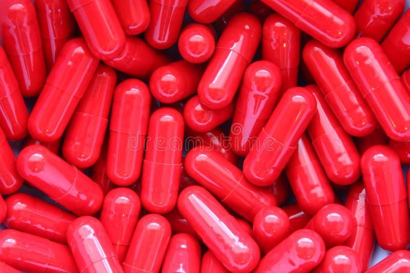 红色的药片 库存图片
