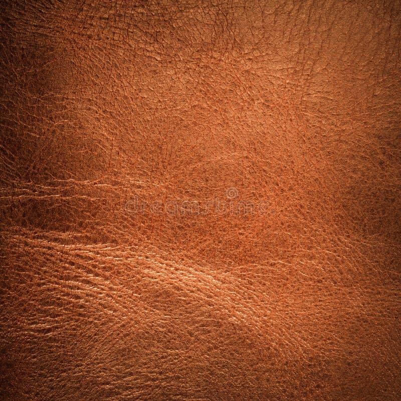 红色皮革背景 免版税库存照片