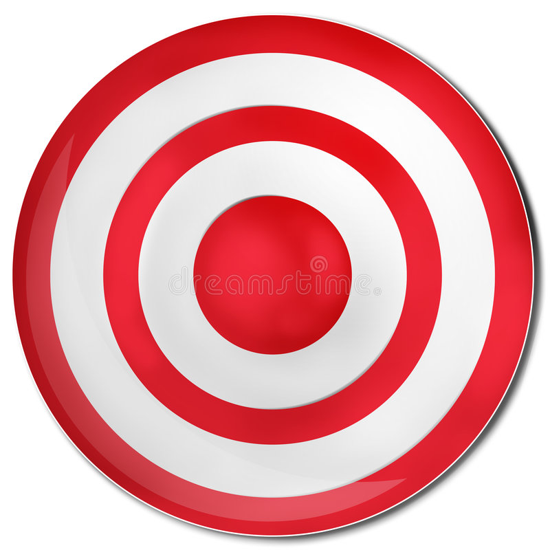 红色目标 库存例证